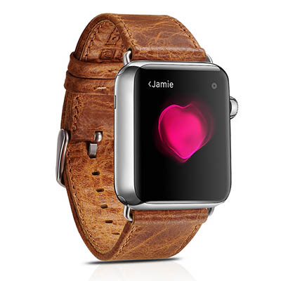 iCarer Classic Genuine Leather Series Watchband For Apple Watch