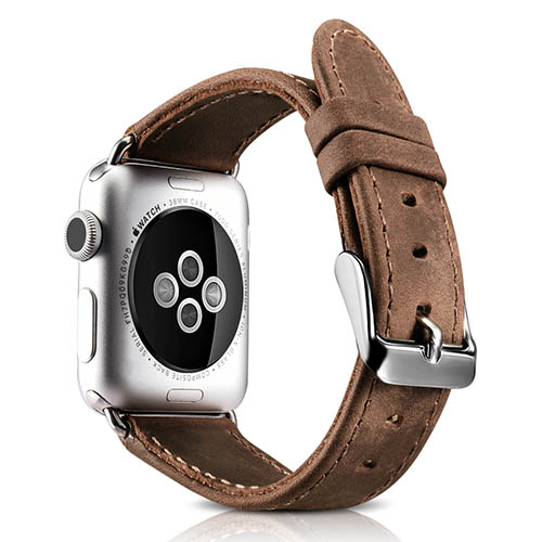 iCarer Crazy Horse Genuine Leather Watchband For Apple Watch