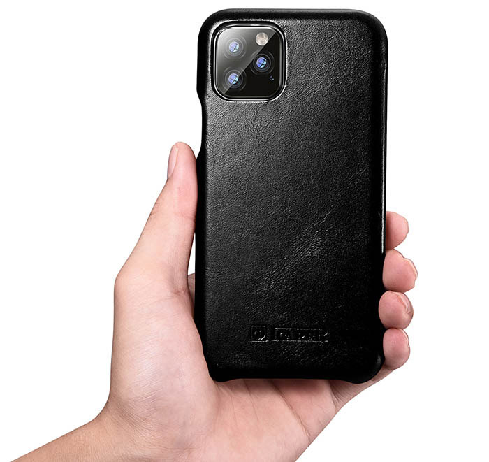 ICARER iPhone 11 Curved Edge Vintage Genuine Leather Case