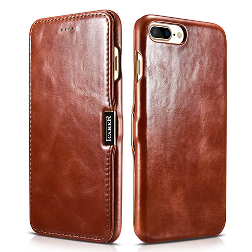 iCarer iPhone 8 Plus Vintage Series Genuine Leather Case