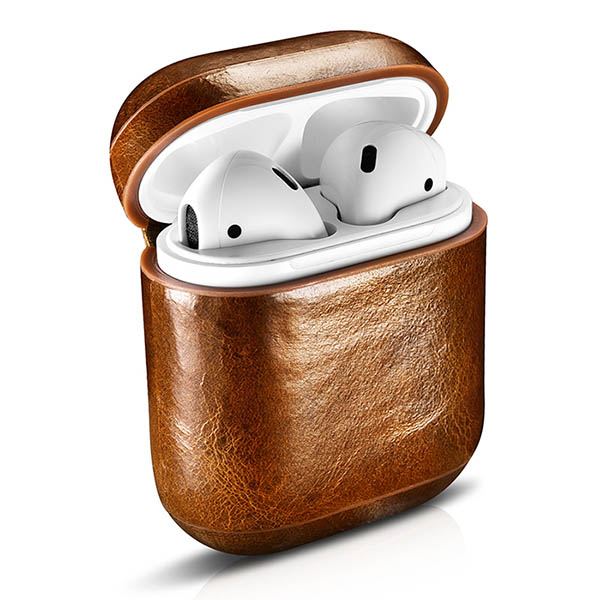 iCarer Airpods Oil Wax Leather Protective Case Cover