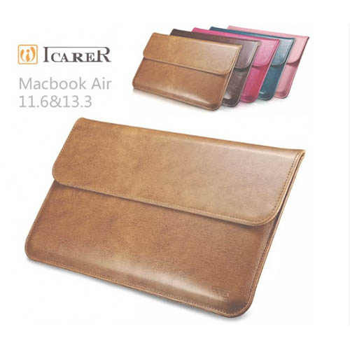 iCarer Genuine Leather Series Sleeve Bag For Apple Macbook Air