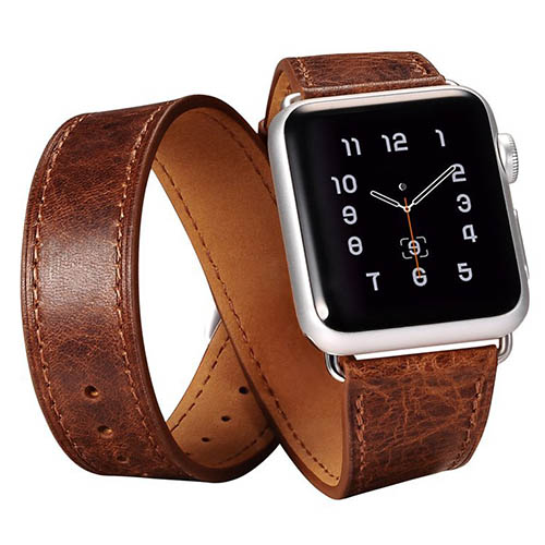 iCarer Classic Genuine Leather Quadri Watchband Series For Apple Watch