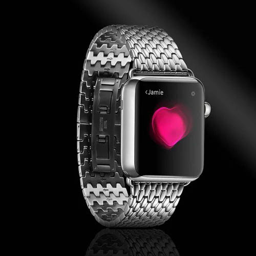 iCarer Armor Electroplating Stainless Steel Watchband Series For Apple Watch