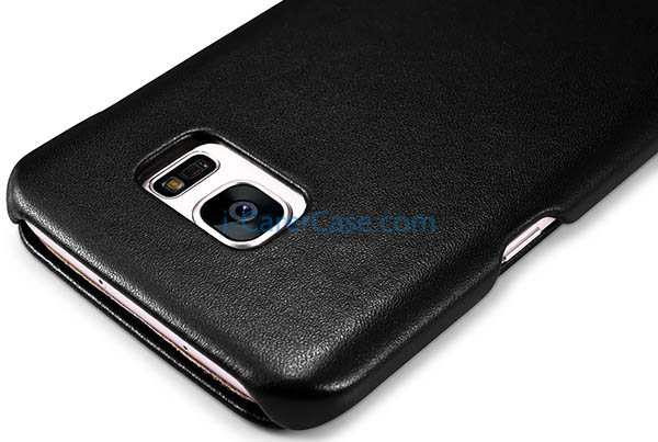 iCarer Samsung Galaxy S7 Edge Luxury Series Side Open Genuine Leather Case