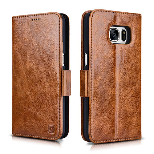 iCarer Samsung Galaxy S7 Oil Wax Leather Detachable 2 in 1 Wallet Folio Case
