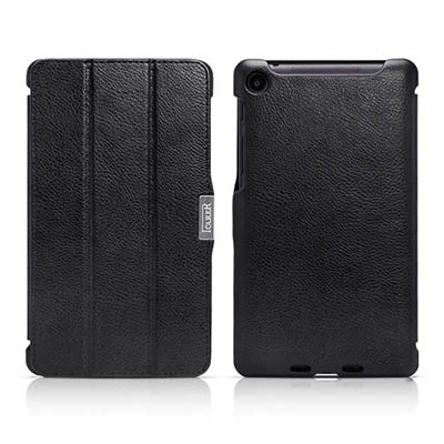 iCarer Google Nexus 7 2nd generation Triple Folded Genuine Leather Stand Case Cover