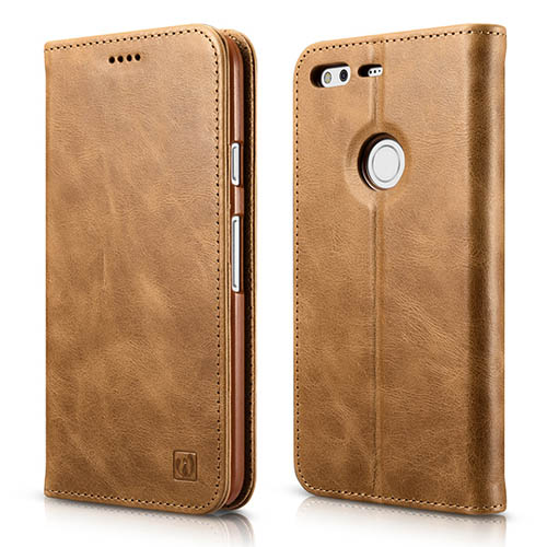 iCarer Google Pixel XL Wallet Genuine Leather Stand Folio Case