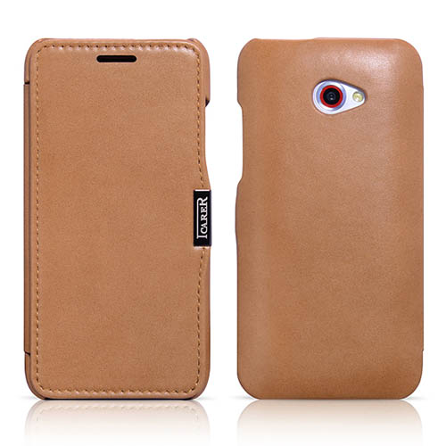 iCarer HTC Butterfly S Side Open Luxury Series Corrected Grain Leather Wallet Case Cover