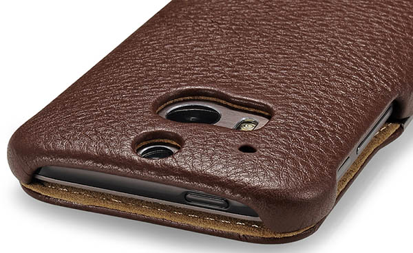 buy online c27a6 f7750 iCarer HTC One M8 Side Open Litchi Pattern Series Genuine Leather Wallet  Case Cover