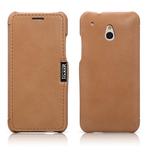 iCarer HTC One Mini Side Open Luxury Series Corrected Grain Leather Case Cover