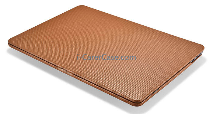 cheaper 9416d 2cf1e iCarer MacBook Pro 15 inch 2017 Woven Pattern Detachable Real Leather Case