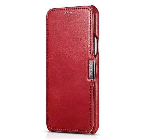 iCarer Vintage Genuine Leather Wallet Case Cover For Samsung Galaxy A8
