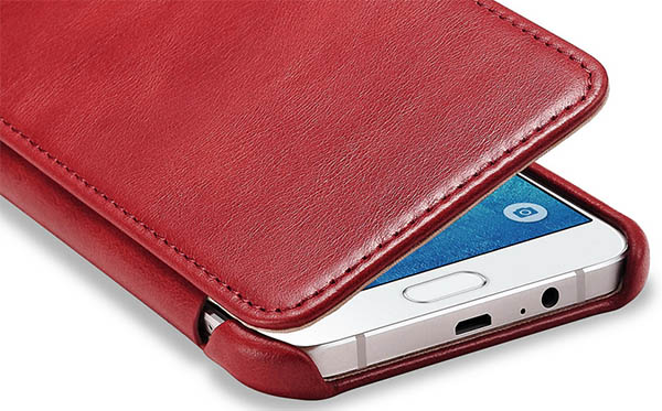 iCarer Vintage Leather Wallet Case Cover For Samsung Galaxy A8