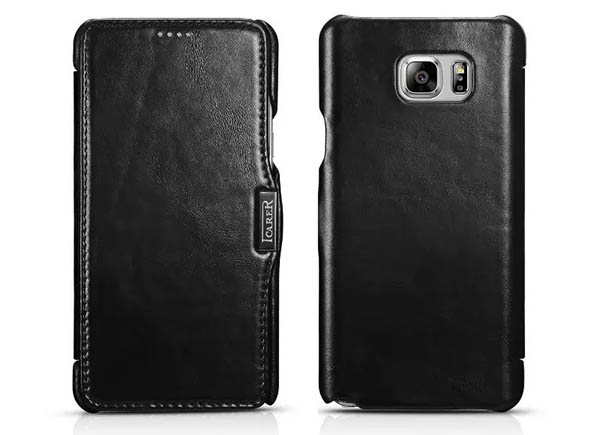iCarer Samsung Galaxy Note 5 Vintage Genuine Leather Wallet Case