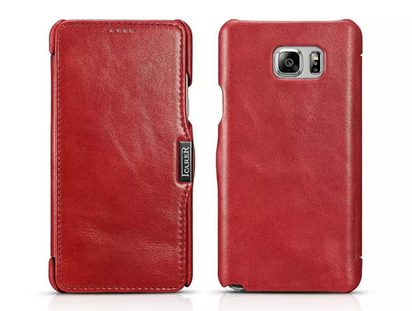 iCarer Vintage Leather Wallet Case For Samsung Galaxy Note 5