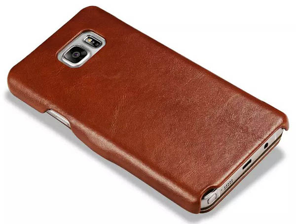 the latest aef3c 14350 iCarer Samsung Galaxy Note 5 Case Vintage Genuine Leather Wallet Case