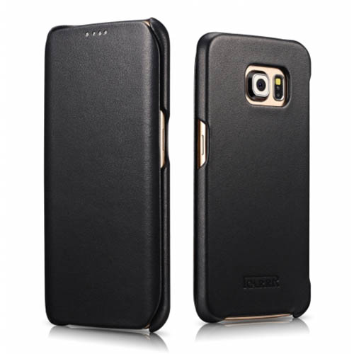 new product 1e14e 60701 iCarer Samsung Galaxy S6 Edge Plus Case Luxury Series Genuine Leather Case  Cover