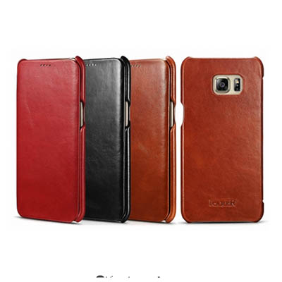 iCarer Samsung Galaxy S6 Edge Plus Case Vintage Series Genuine Leather Case Cover