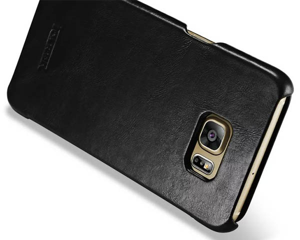 meet b1a45 18cbe iCarer Samsung Galaxy S6 Edge Plus Case Vintage Series Genuine Leather Case  Cover
