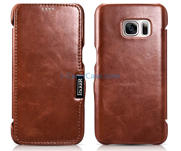 iCarer Samsung Galaxy S7 Vintage Series Genuine Leather Case