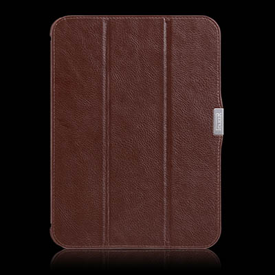 iCarer Samsung Galaxy Tab 3 10.1 P5210 Triple-Folded Genuine Leather Case Cover