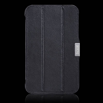iCarer Samsung Galaxy Tab 3 7.0 P3200 Triple-Folded Genuine Leather Case Cover