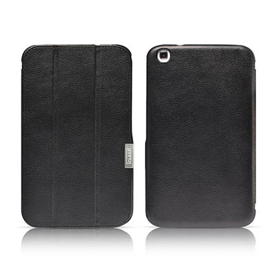iCarer Samsung Galaxy Tab 3 8.0 P8200 Triple-Folded Genuine Leather Case Cover