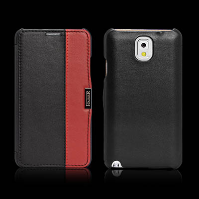 iCarer Samsung Galaxy Note 3 Side Open ColorBlock Series Corrected Grain Leather Wallet Case Cover