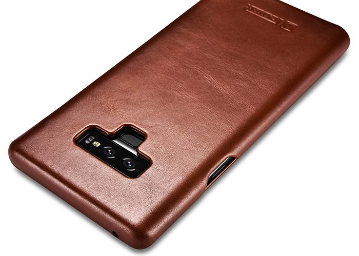 brand new c3469 3ab80 iCarer Samsung Galaxy Note 9 Vintage Genuine Leather Case