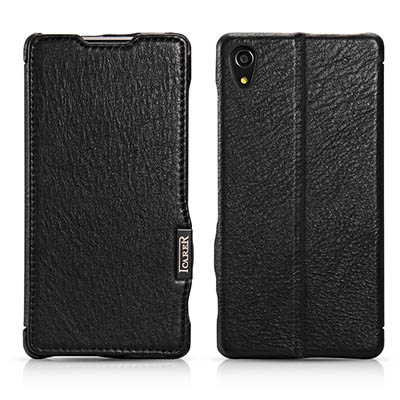 iCarer Sony Xperia Z2 Side Open Litchi Pattern Series Genuine Leather Stand Case Cover