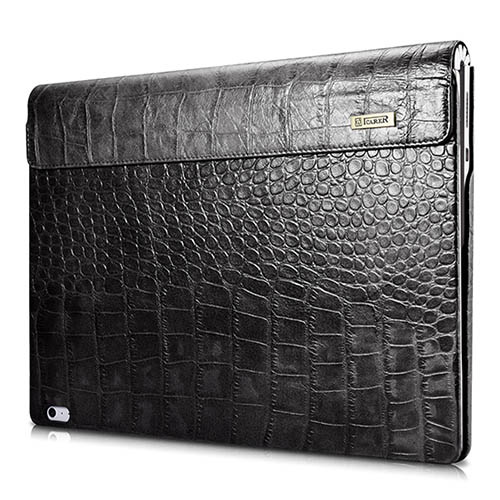 iCarer Surface Book Embossed Crocodile Genuine Leather Detachable Flip Case