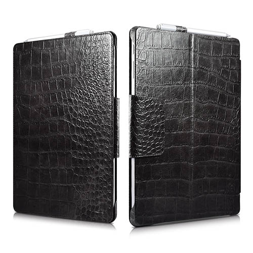 iCarer Surface Pro 4 Embossed Crocodile Genuine Leather Folio Case