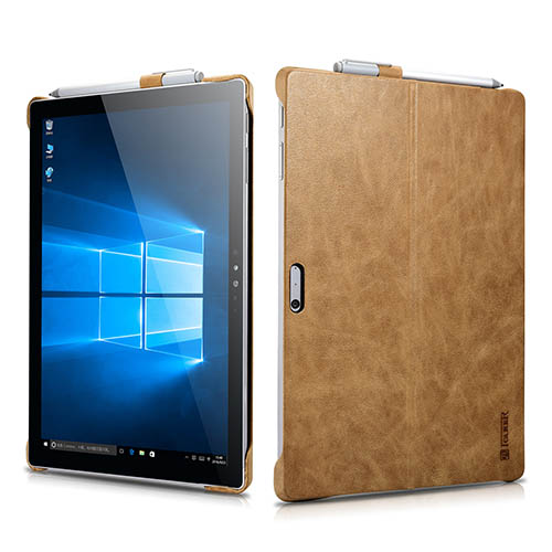 iCarer Surface Pro 4 Shenzhou Genuine Leather Back Cover Case