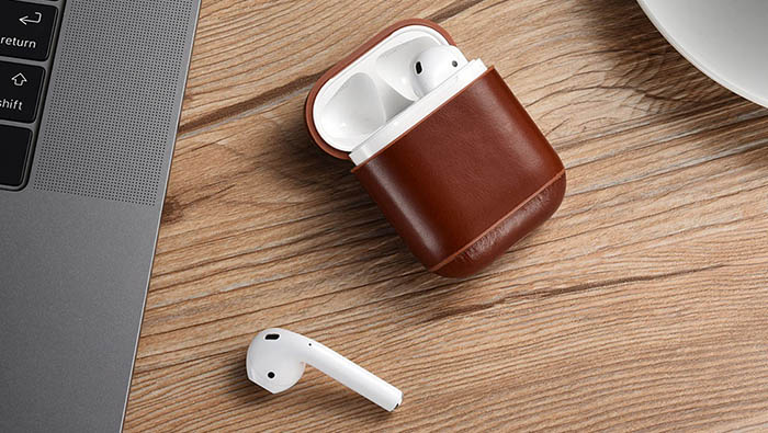 iCarer Vintage Leather AirPods Protective Case