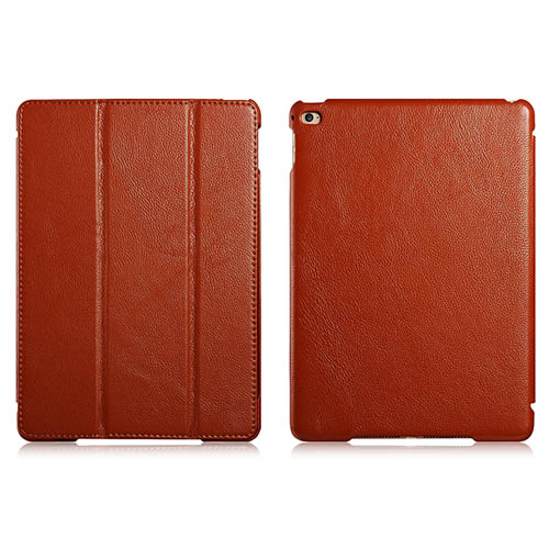 iCarer iPad Air 2/ iPad 6 Litchi Pattern Series Genuine Leather Stand Case Cover