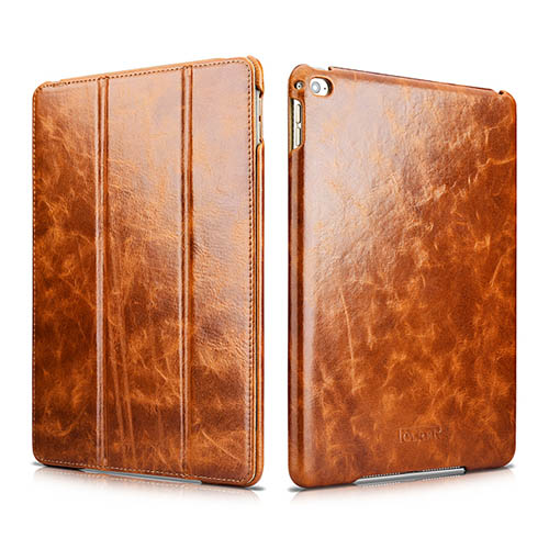 iCarer iPad Air 2 Oil Wax Vintage Genuine Leather Folio Case