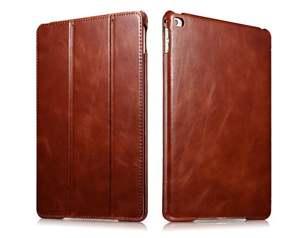 iCarer iPad Air 2 Vintage Series Genuine Leather Stand Case Cover