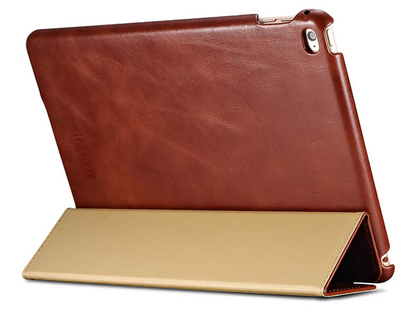 iPad Air 2 iCarer Vintage Series Genuine Leather Stand Case Cover