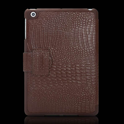 iCarer iPad Mini Fake Crocodile Series Genuine Leather Stand Case Cover