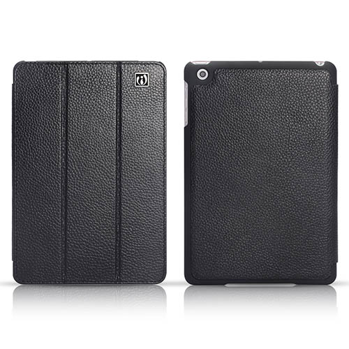 iCarer iPad Mini Triple-folded Genuine Leather Stand Case Cover