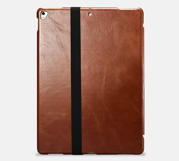 iCarer iPad Pencil Real Leather Single Pen Slip Holder Case