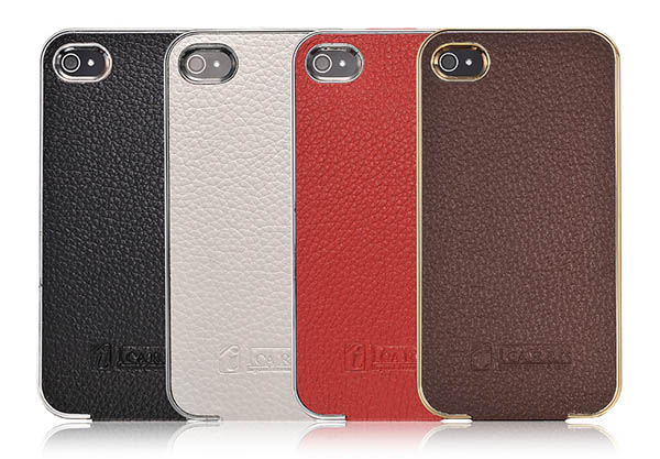 iCarer iPhone 4 Flip Electroplating Series Genuine Leather Case Cover
