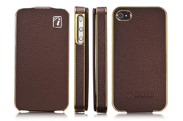 iPhone 4 iCarer Leather Case Cover