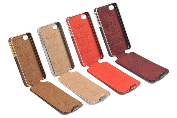 iCarer iPhone 4S Flip Electroplating Series Leather Case Cover