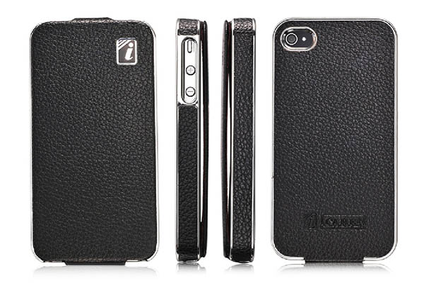 iCarer iPhone 4S Electroplating Leather Case Cover