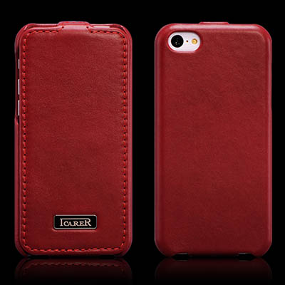 iCarer iPhone 5C Flip Luxury Series Genuine Leather Case Cover