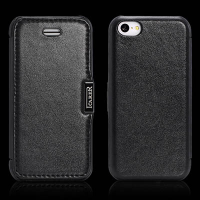 iCarer iPhone 5C Side Open Luxury Series Genuine Leather Case Cover