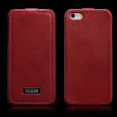 iCarer iPhone 5/5S Flip Luxury Series Corrected Grain Leather Case Cover
