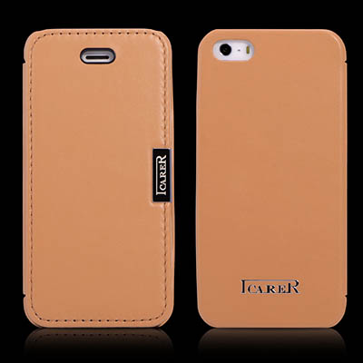 iCarer iPhone SE/5/5S Side Open Luxury Series Genuine Leather Case Cover